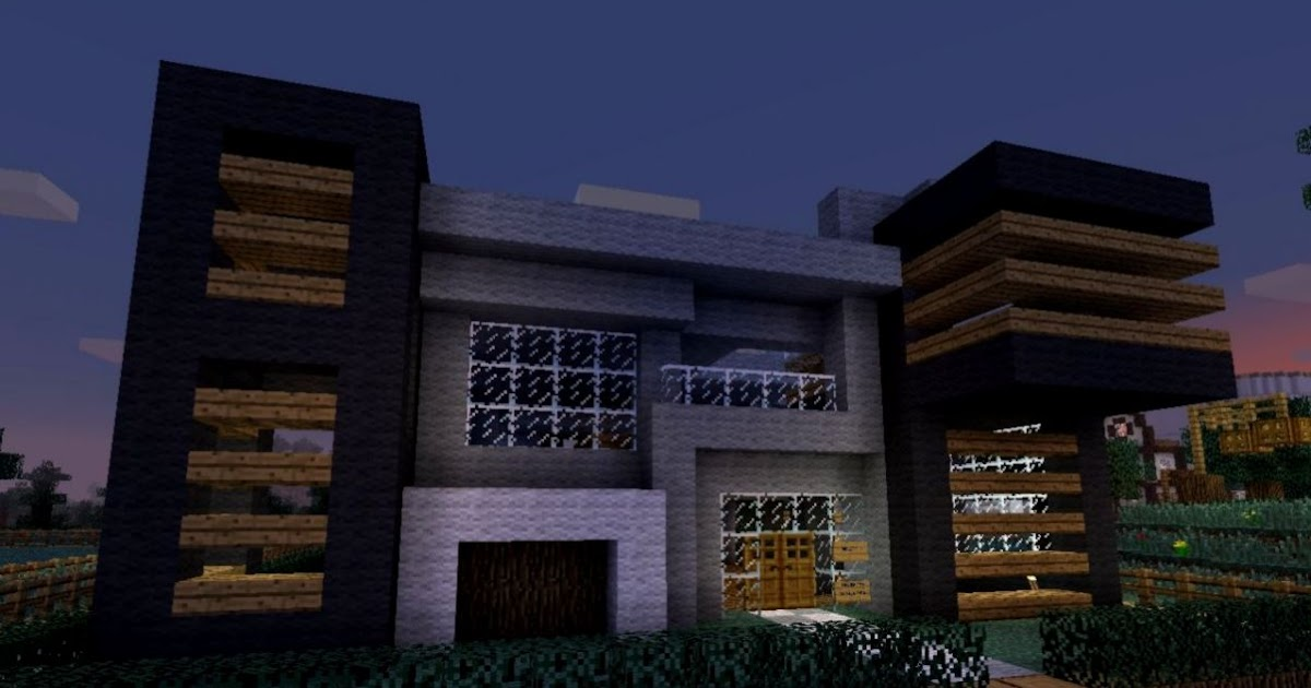 Minecraft Modern House Woodminecraft Mega Wallpapers