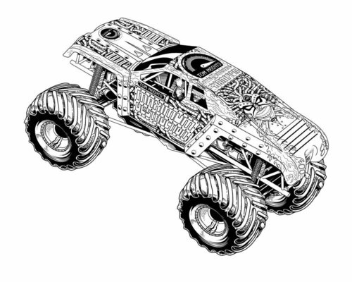 Monster Truck Coloring Pages For Kids >> Disney Coloring Pages