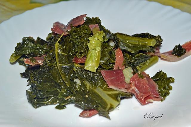 Kale Con Patata Hervida Y Jamón Ibérico