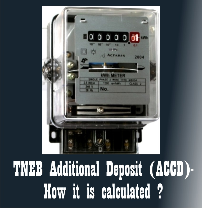TNEB (Electricity Board) Additional Deposit (ACCD) - What is ACCD
