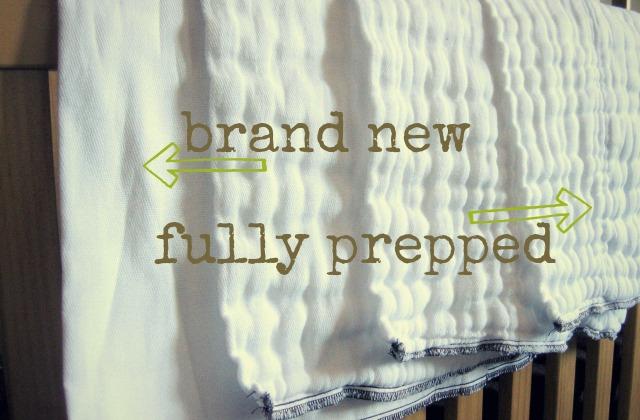 How to Prepare Prefolds