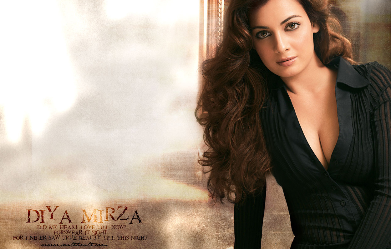 Dia Mirza Bollywood Actress Sexy Wallpapers In 1080P -3719