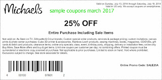 Michaels coupons march 2017