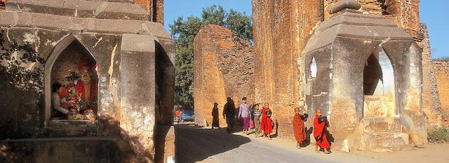 Historic city wall at Bagan