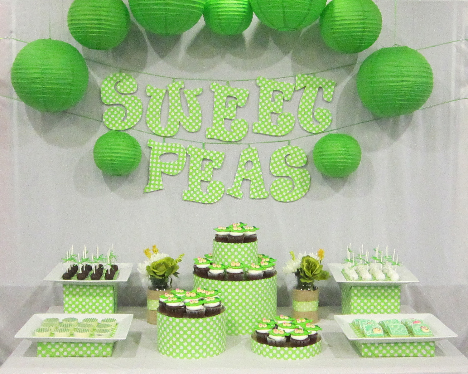 Sweet Pea Baby Shower Decorations
