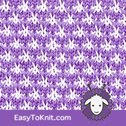 Textured Knitting 18: Thorn | Easy to knit #knittingstitches #knittingpattern