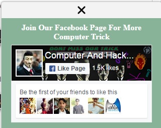 How to Add a Facebook Page Popup box Plugin in Blogger