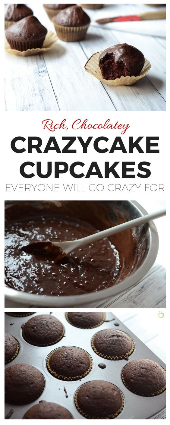 Vegan Chocolate Crazycake Cupcakes You'll Go Crazy For