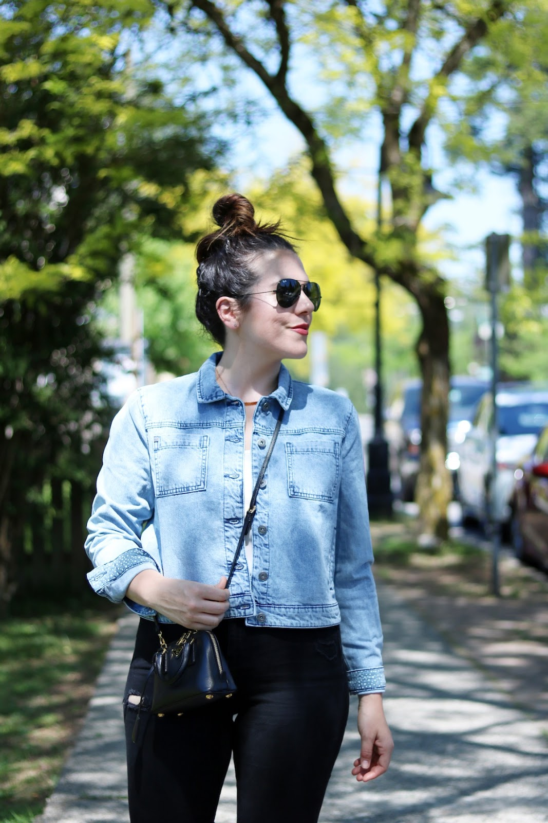 Bench jean jacket outfit vancouver fashion blogger