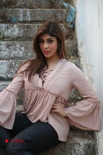 Telugu Actress Aditi Singh Stills in Leather Pants at Nenu Kidnap Iyanu Movie Press Meet  0195.JPG