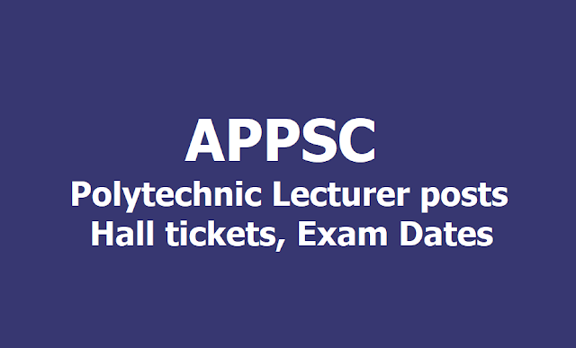 APPSC Fisheries Development Officer posts Hall tickets, Exam Dates 2019