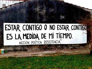 """""""Estar contigo o no estar contigo es la medida de mi tiempo."""" Jorge Luis Borges"""