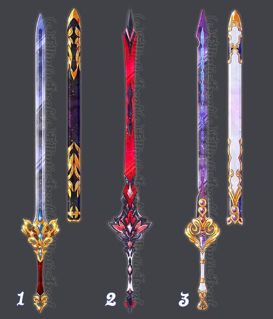 Uma bela espada praticamente já diz por si só o quanto aquele personagem é importante ou poderoso.