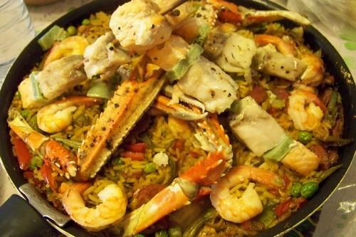 Cuisine en folie un riz fa on pa lla au poisson au - Cuisiner poisson congele ...