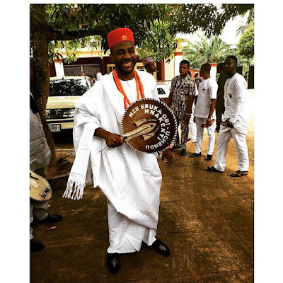 Ebuka Obi Uchendu the Tv host traditional wedding photos