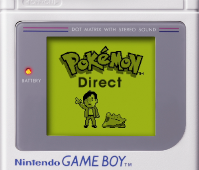 Pokémon Direct title screen Nintendo Game Boy Ditto Tsunekazu Ishihara