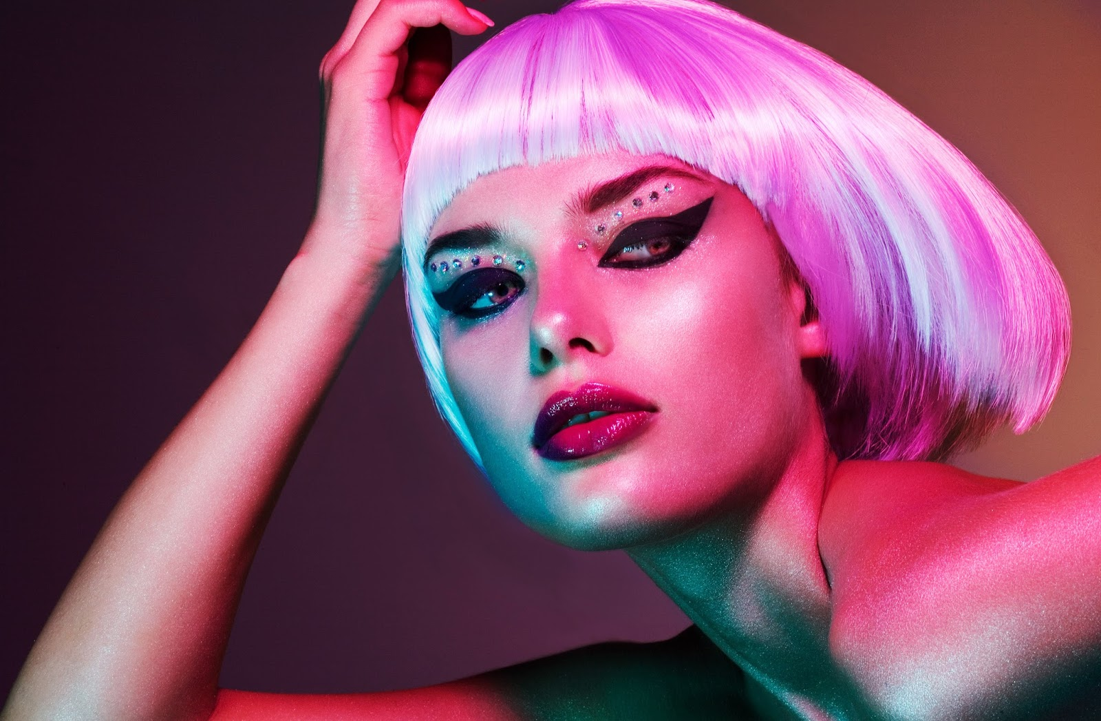 Beauty Editorial Photoshoot Multi-Colored Hair, Pastel ...