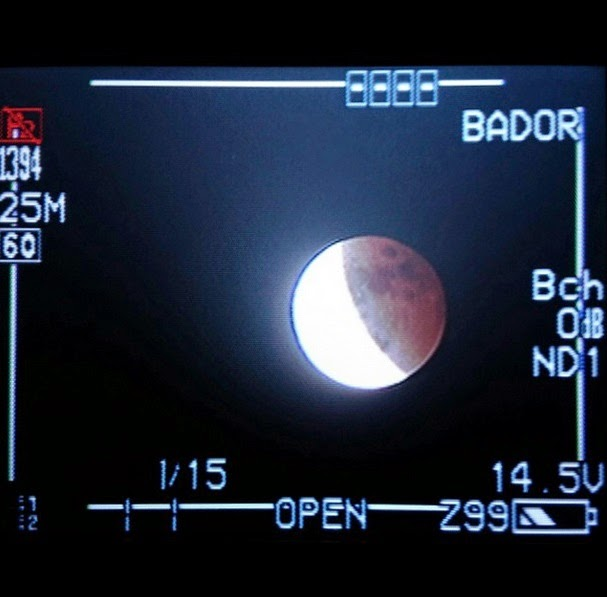 Blood Moon Rolandave Bola, Videographer at PAGASA Astronomical Observatory