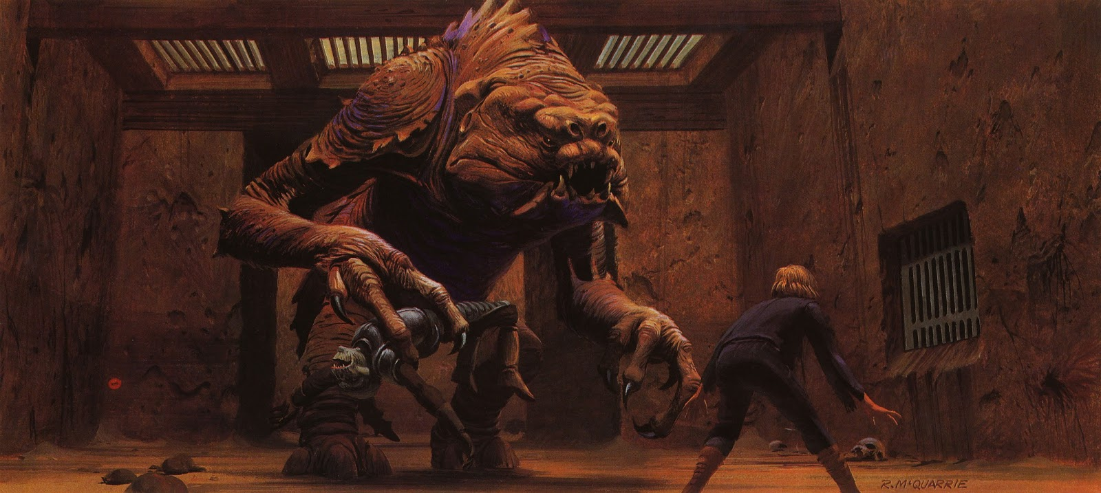 Ralph McQuarrie Star Wars Concepts 51-55 … Jabba and other creatures in his palace