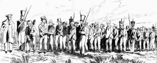 Convict work gang, Australia.