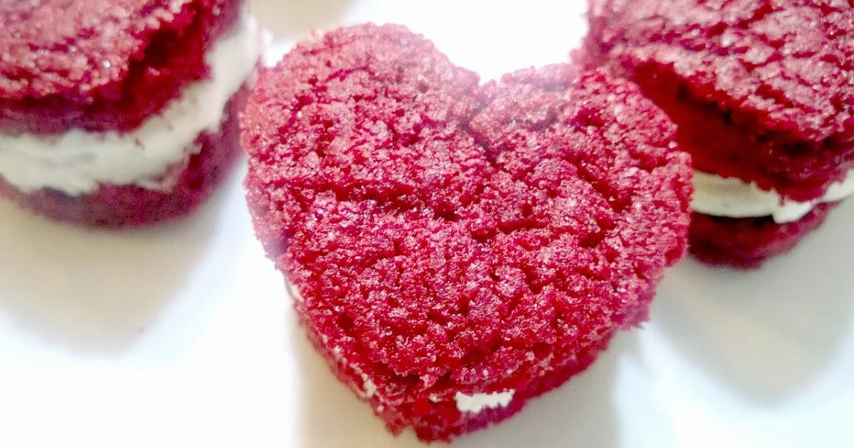 Red Velvet Sandwich Cookies Using Cake Mix