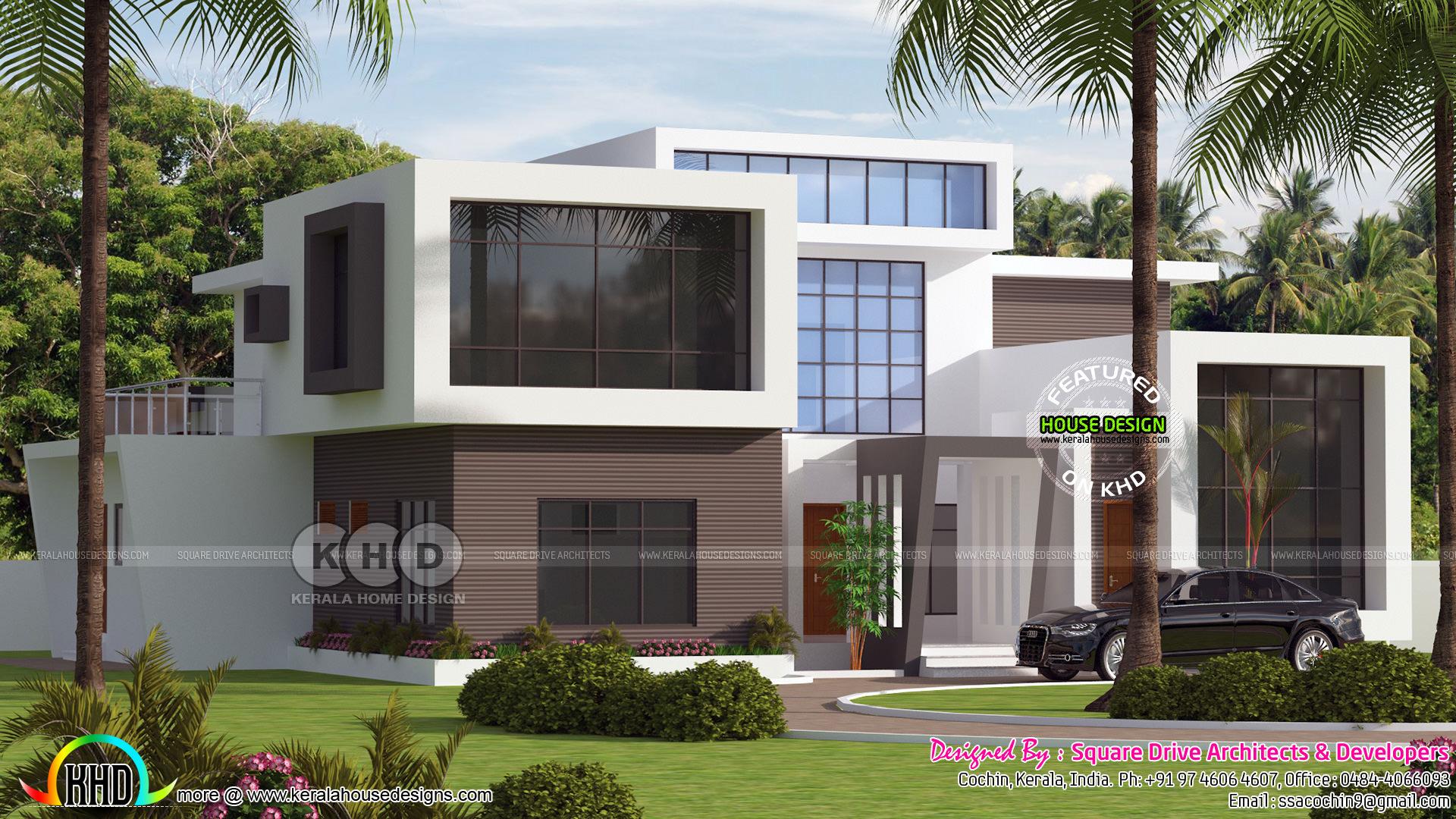 395 Sq M Contemporary Kerala Home Kerala Home Design And