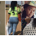 Curvy female corper nicknamed 'Aunty Ass' flogs student who asked her out (Photos)