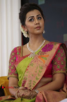 Actress Nikki Galrani Latest Pos in Saree Neruppu Da Movie Audio Launch  0006.jpg