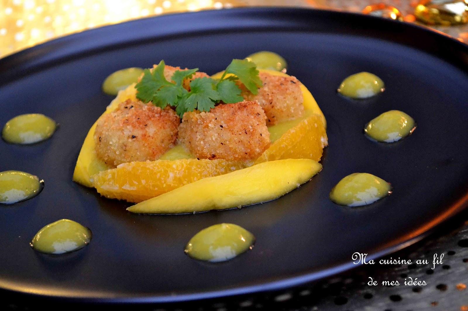 Ma cuisine au fil de mes id es noix de saint jacques - Noix de saint jacques curry ...