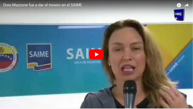 Dora Mazzone fue a dar el trasero en el SAIME