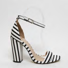 women's stripe shoe