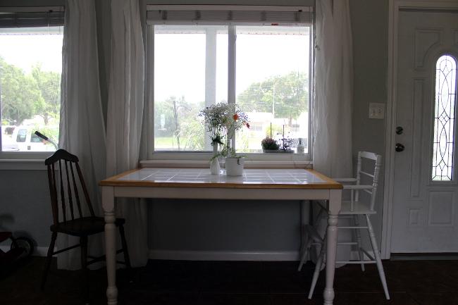 Tile Top Farmhouse Table