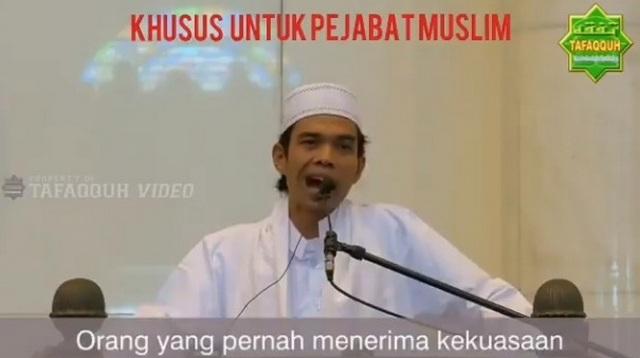 Ini Nasihat paling keras Ustad Abdul Somad, untuk para pejabat Muslim