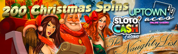 200 Free Slot Spins at Sloto'Cash and Uptown Aces Online Casino