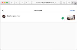 Cara Posting Foto Instagram dari Mac Anda
