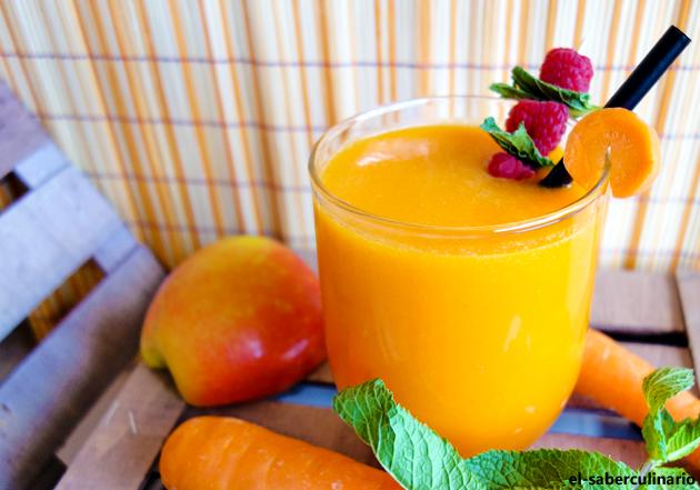 Batido de platano naranja y zanahoria