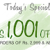 Pepperfry Diwali Loot : Get Flat Rs.1001 Off on Shopping of Rs.2999 or More