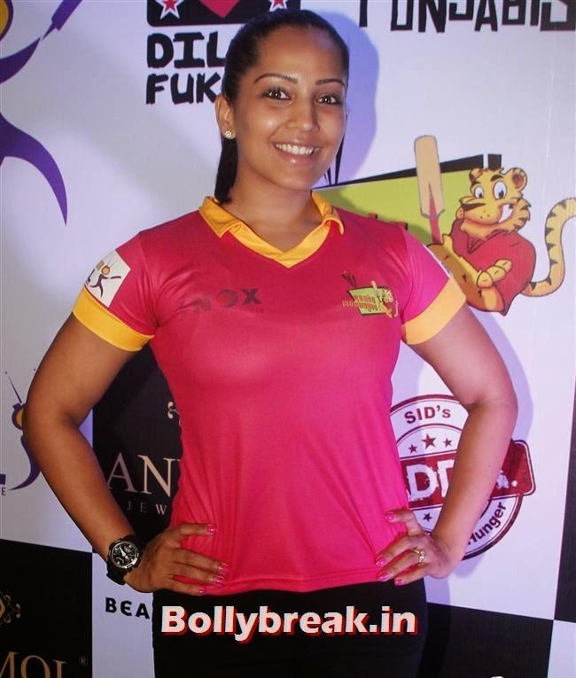 Meghna Naidu, Krystle D'Souza, Mandira Bedi at BCL Inaugural Match