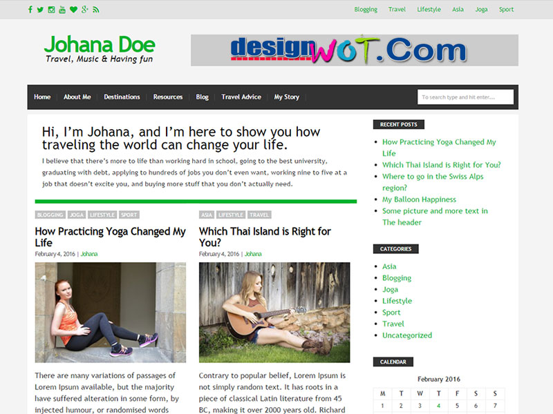 Blog Start WordPress Theme