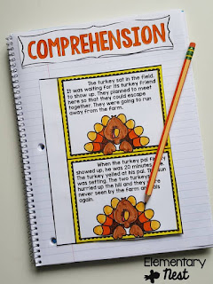 Interactive Notebook Activities- November Resources and two FREEBIES to use in November for primary classrooms- fall activities