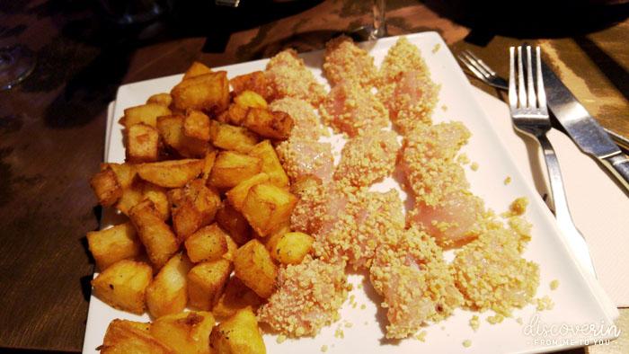 Poulet aux amandes & patates