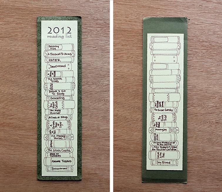Diy Book Marks: Handmade Hezzahvife: 2013 DIY Bookmark