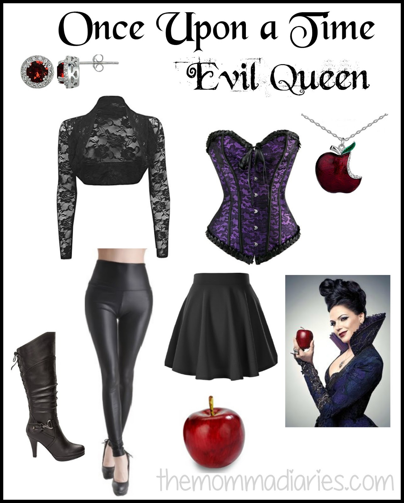Once Upon A Time Evil Queen Once Upon A Time Evil Queen DIY Costume  sc 1 st  The Momma Diaries & Once Upon a Time Evil Queen DIY Costume - The Momma Diaries