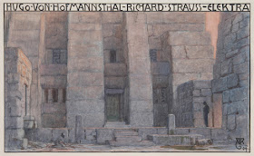 Alfred Roller's designs for the 1909 production of Richard Strauss' Elektra in Dresden