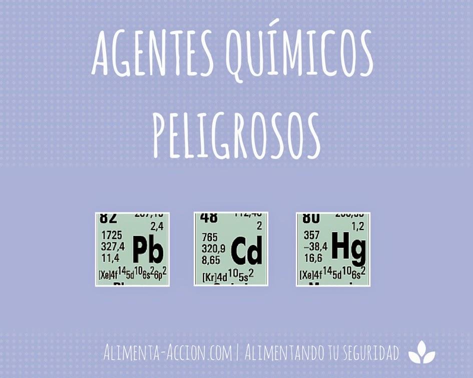 Alimentos, Agentes químicos, mercurio, cadmio, plomo, Alimenta Acción, seguridad alimentaria