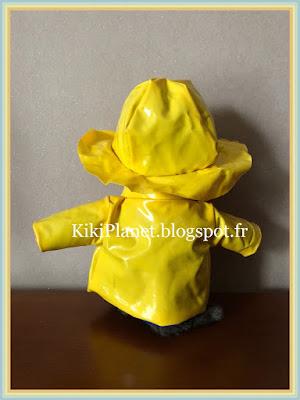 Ensemble ciré et chapeau fait main pour Kiki ou Monchhichi, couture, manteau, handmade