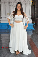 Telugu Actress Amyra Dastur Stills in White Skirt and Blouse at Anandi Indira Production LLP Production no 1 Opening  0089.JPG