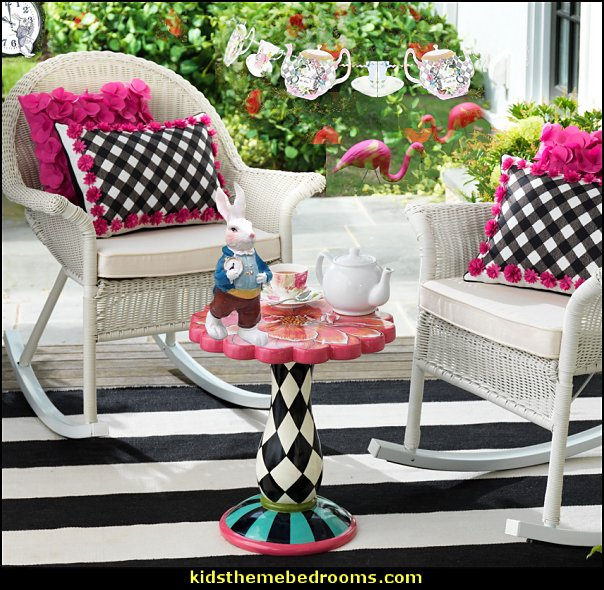 alice in wonderland decorating  Alice in Wonderland party decorating ideas - Alice in Wonderland theme party decorations - Alice in Wonderland costumes -  Alice in Wonderlnd wall decals - Alice in Wonderland wall murals -  tea party theme Alice in Wonderland Tea Party