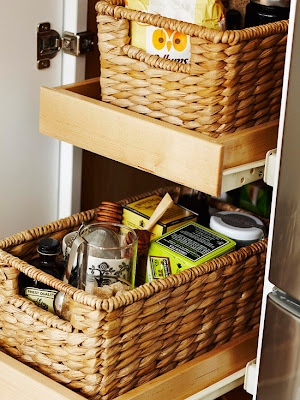 Resultado de imagem para cozinha organização cestos e gavetas