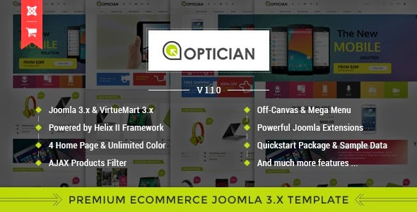 Vina optician joomla template